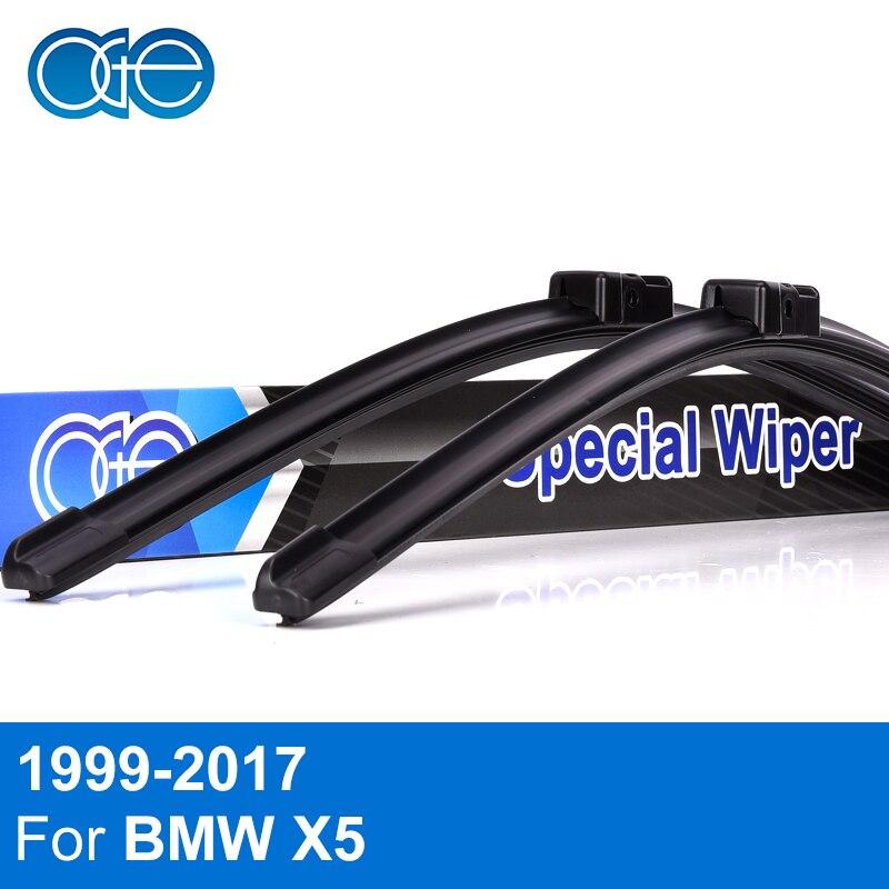 Oge Avant Et Arrière Lames D'essuie-Glace Pour BMW X5 E53 E70 F15 1999-2017 Pare-Brise Pare-Brise En Caoutchouc De Voiture Accessoires haute Qualité