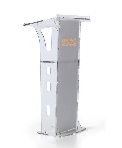 Logo Customize Crystal Podium Acrylic Crystal Transparent Platform Stage Launch Ceremony Hotel Podium Church Pulpit