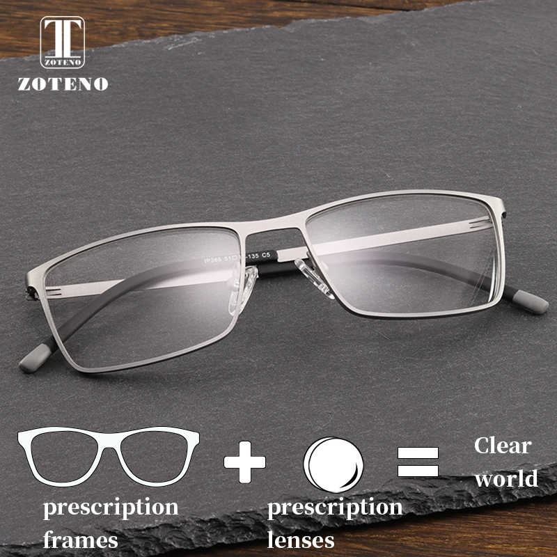 08f00bbfbba Metal Prescription Eye Glasses Myopia Optical Clear Anti Blue Ray  Photochromic Multifocal Reading Computer Eyewear For
