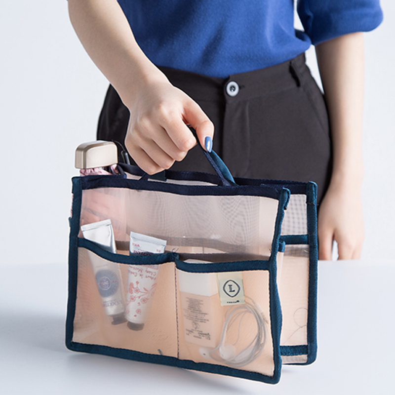 Fashion Mesh Breathable Multi Bag Handbag Sundries Pack Bag Travel Bag