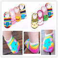New Free Shipping Baby Anti-slip Socks Cartoon Slipper 6-36 Months 3 pairs/lot boys and girls Floor Socks With Cute Animal
