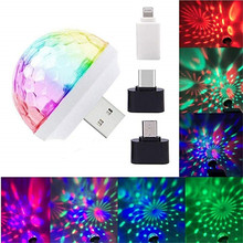 USB Mini Disco Lichter, Tragbare Home Party Licht, DC 5 V USB Powered Led Bühne Party Ball DJ Beleuchtung, Karaoke Party Led Weihnachten(China)