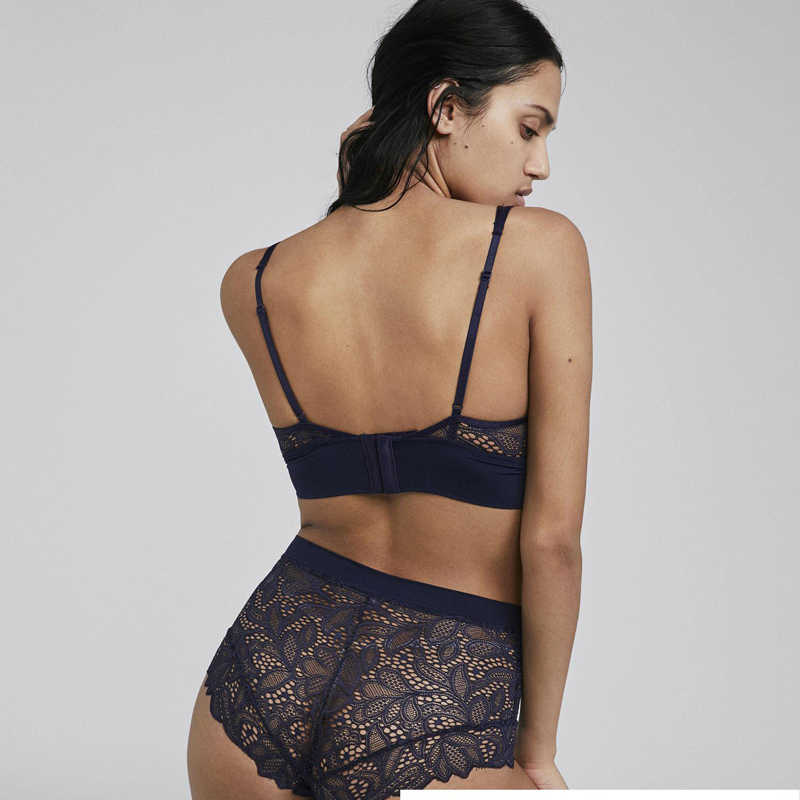 0efcdae526 ... Wriufred French Bra Set Sexy Comfortable Wire Free Underwear Women Set  Lace Embroidery Bra and Panty ...