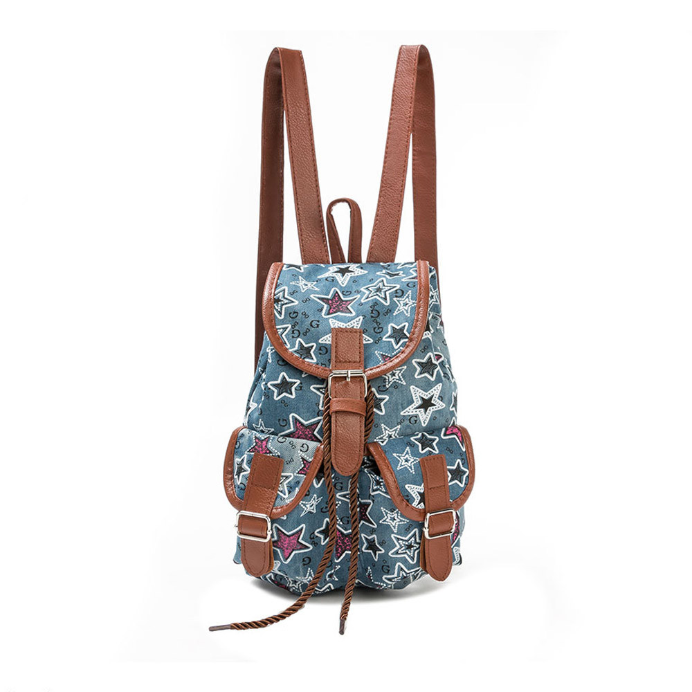 Backpack Female Drawstring School Maison Fabre -25 CSV Printing O1102