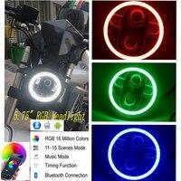 For Harley Led Headlight 5 3/4 harley RGB led motorcycle headlight h4 led 5.75 inch harley sportster 883