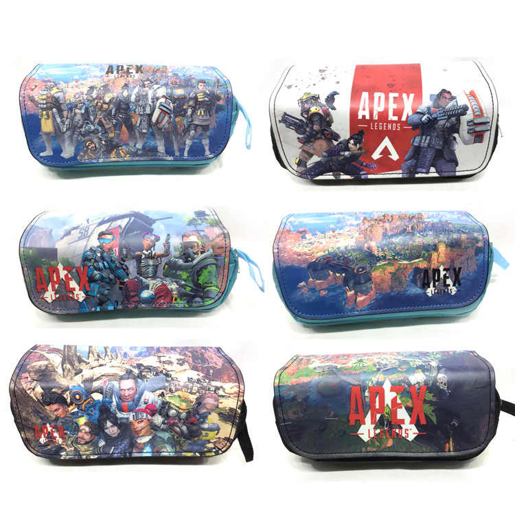 penalties Pen Bag Letter Small Middle School Student Hero Game Large Capacity Pencil Case Double Zipper Storage Bag CosmeticBag