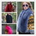 Nueva zorro imitación hombres de cuello de piel caliente de calidad de lana gruesa mantón de las bufandas