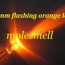 1000pcs 5mm Orange Flash Flashing Blink