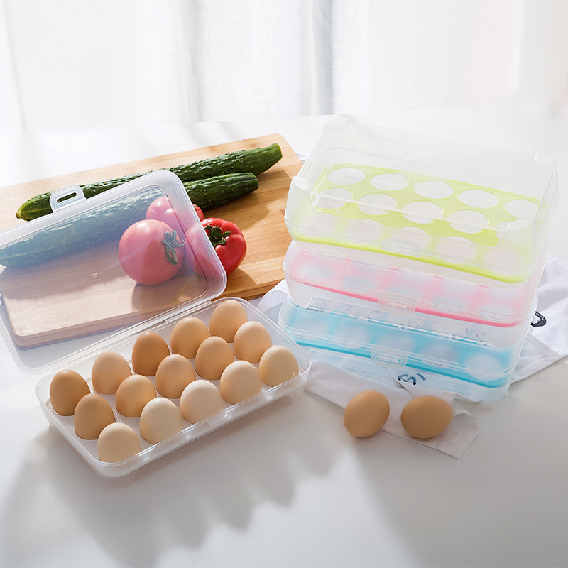 1PC 24 15cm Portable Egg Storage Box Organizer Kitchen Food Container Hiking Outdoor Camping Carrier for 15 Grid Egg Case Box in Bottles Jars Boxes from Home Garden