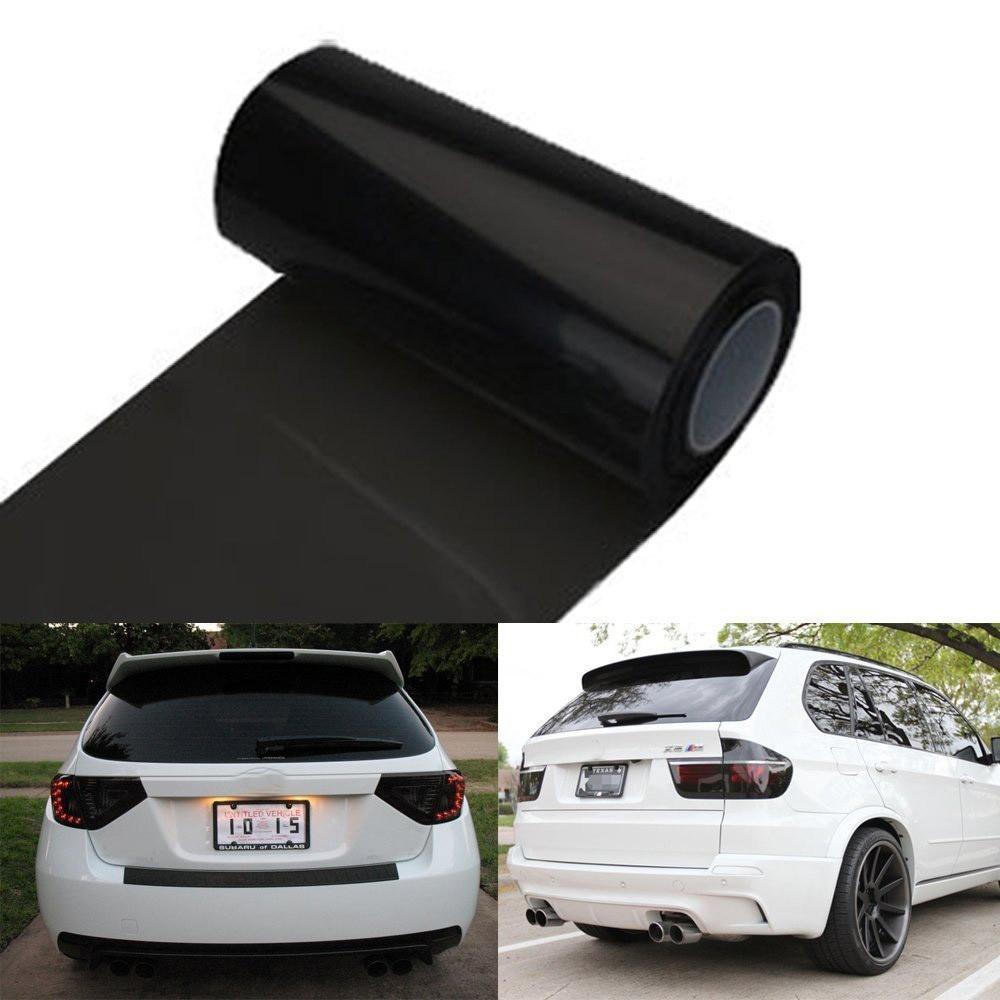 Car Sticker Auto Car Tint Headlight Taillight Fog Light Vinyl Smoke Film 12inch X 48inch Waterproof Stretchable Self-adhesive
