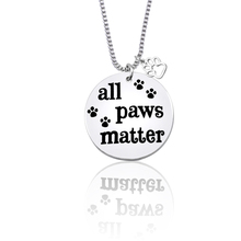 Simple Fashion Hollow Dog Claw Pendant Necklace Pet Paw Print Label Silver Souvenir Animal Jewelry