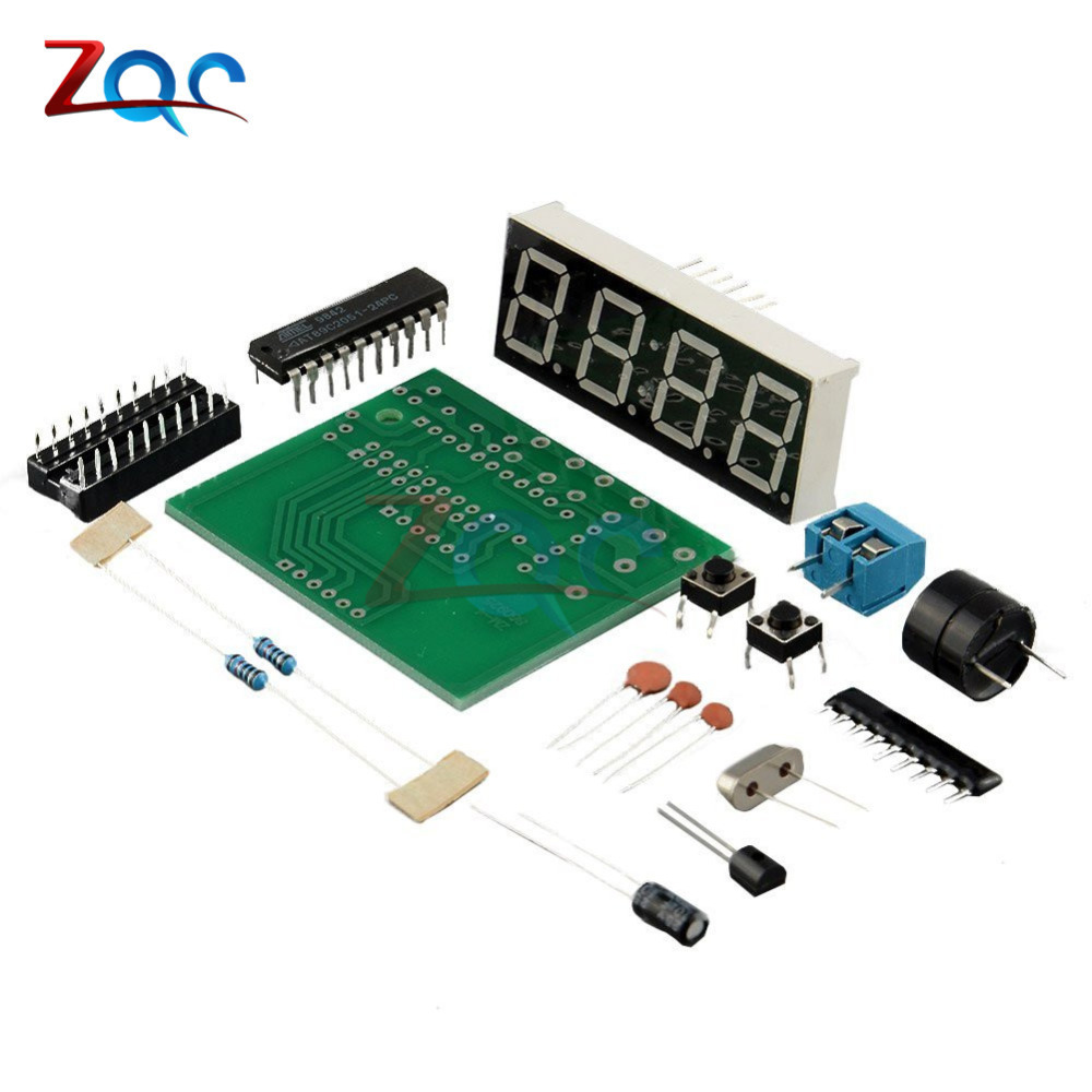 цена на AT89C2051 Digital LED Display 4 Bits Electronic Clock Electronic Production Suite DIY Kit