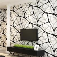 Beibehang Modern minimalist 3D non woven wallpaper black and white bird nest water cube wallpaper living room TV background wall