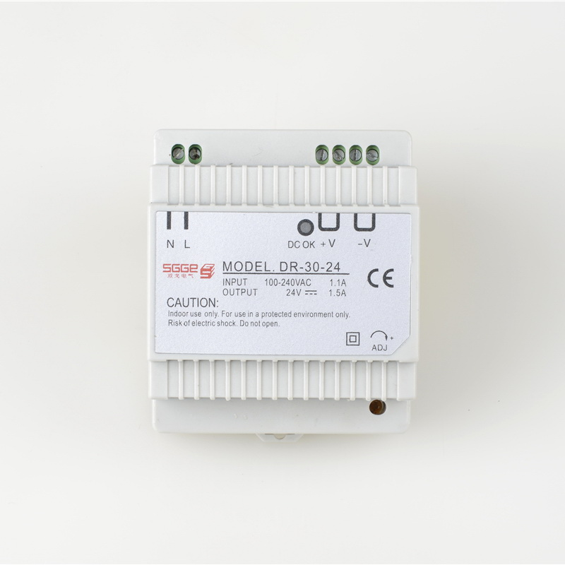 DR-30-24  30W 124V 1.5A  Din rail Single Output Switching power supply  ac dc converter dr 75 48 led single output din rail switching power supplies transformer dc 48v 1 6a output smps