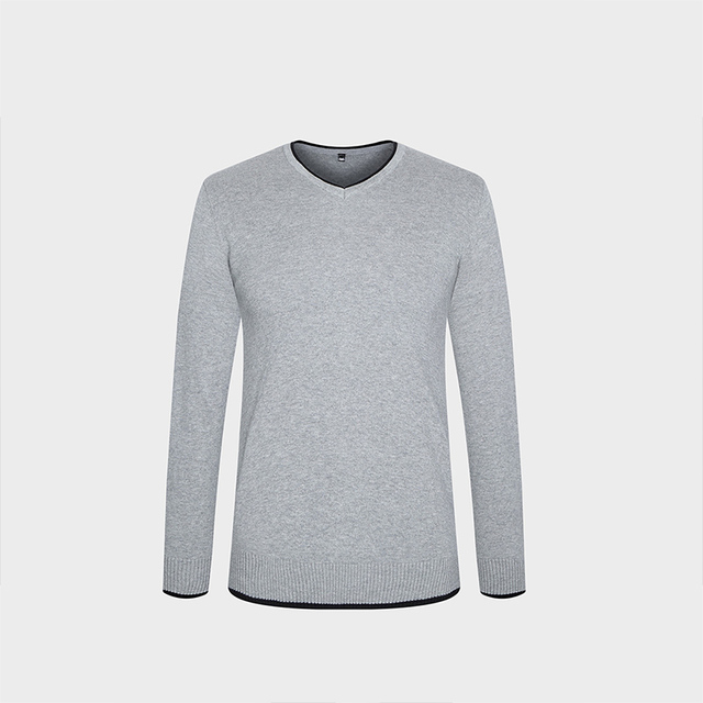 Clothing Pullover Mens Sweaters V-Neck  3