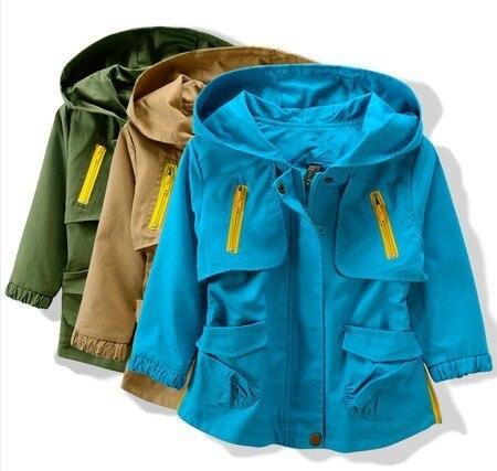 2017 Марка детские пальто и куртки для детей Весной и осенью двойной слой унисекс Дети верхняя одежда бесплатная доставка