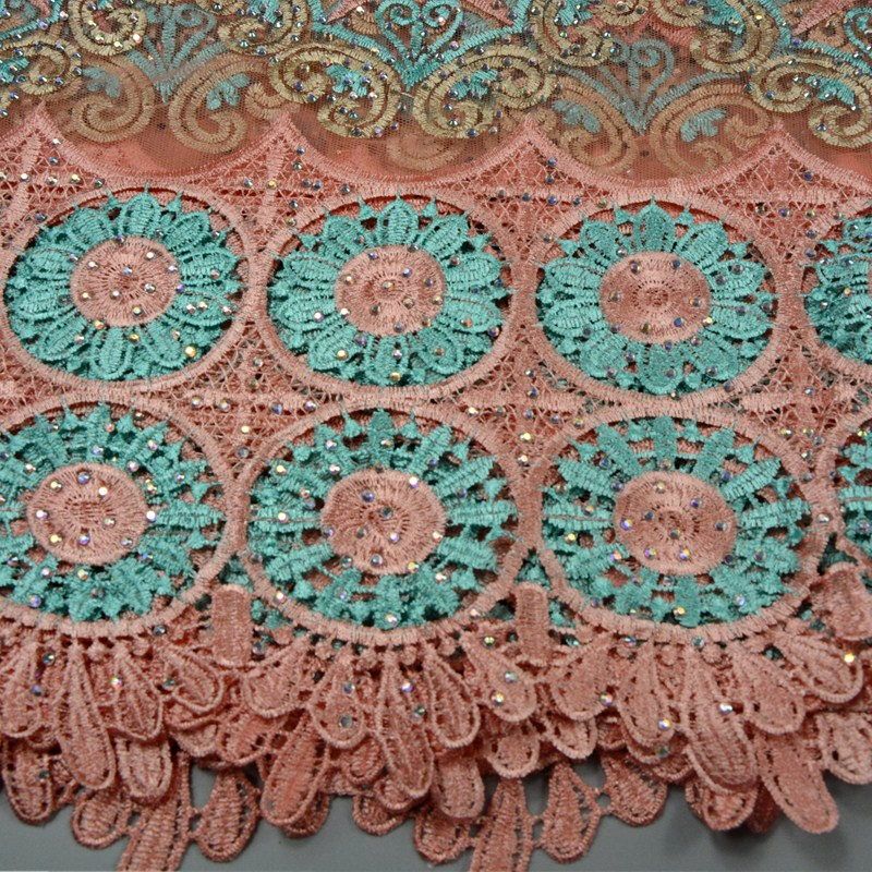 2017 Latest Fashion Net Lace Fabric With Plenty Stones High Quality African French Lace Fabric For Sewing Beauty Women Dress 646
