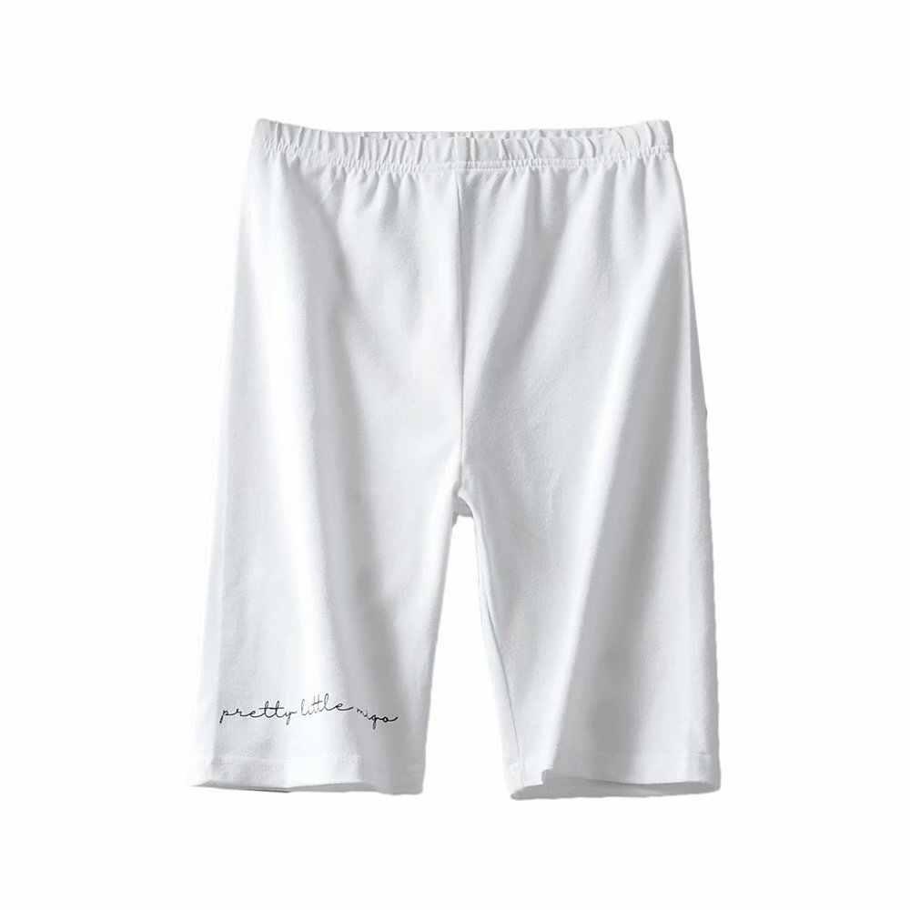 Lato panie biker szorty kobiety czarny biały wysokiej talii szorty bawełny w stylu vintage listy wydrukuj krótki mujer na co dzień spodnie dresowe