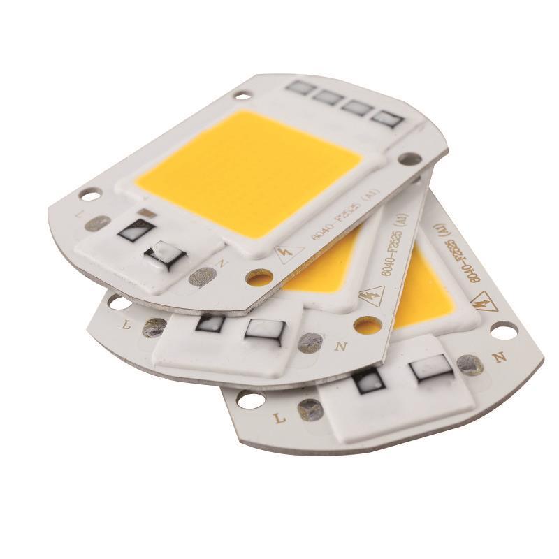LARZI LED COB Lamp Chip 10W 20W 30W 50W 70W AC 110V 220V Smart IC DIY LED Floodlight Spotlight Day White Cold White Warm White in LED Bulbs Tubes from Lights Lighting