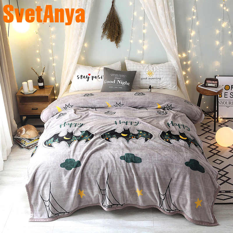 Svetanya Halloween Blanket warm Plaids Winter Sheet (flat Coin Thickness) twin full double queen king size Throws