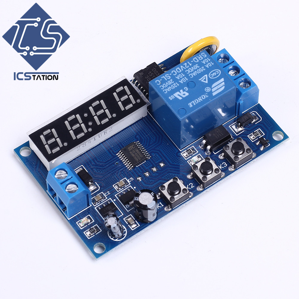 Digital LED Display Time Delay Relay Module Control Programmable Timer Switch Board for Street Lights Time Setting Relay Module