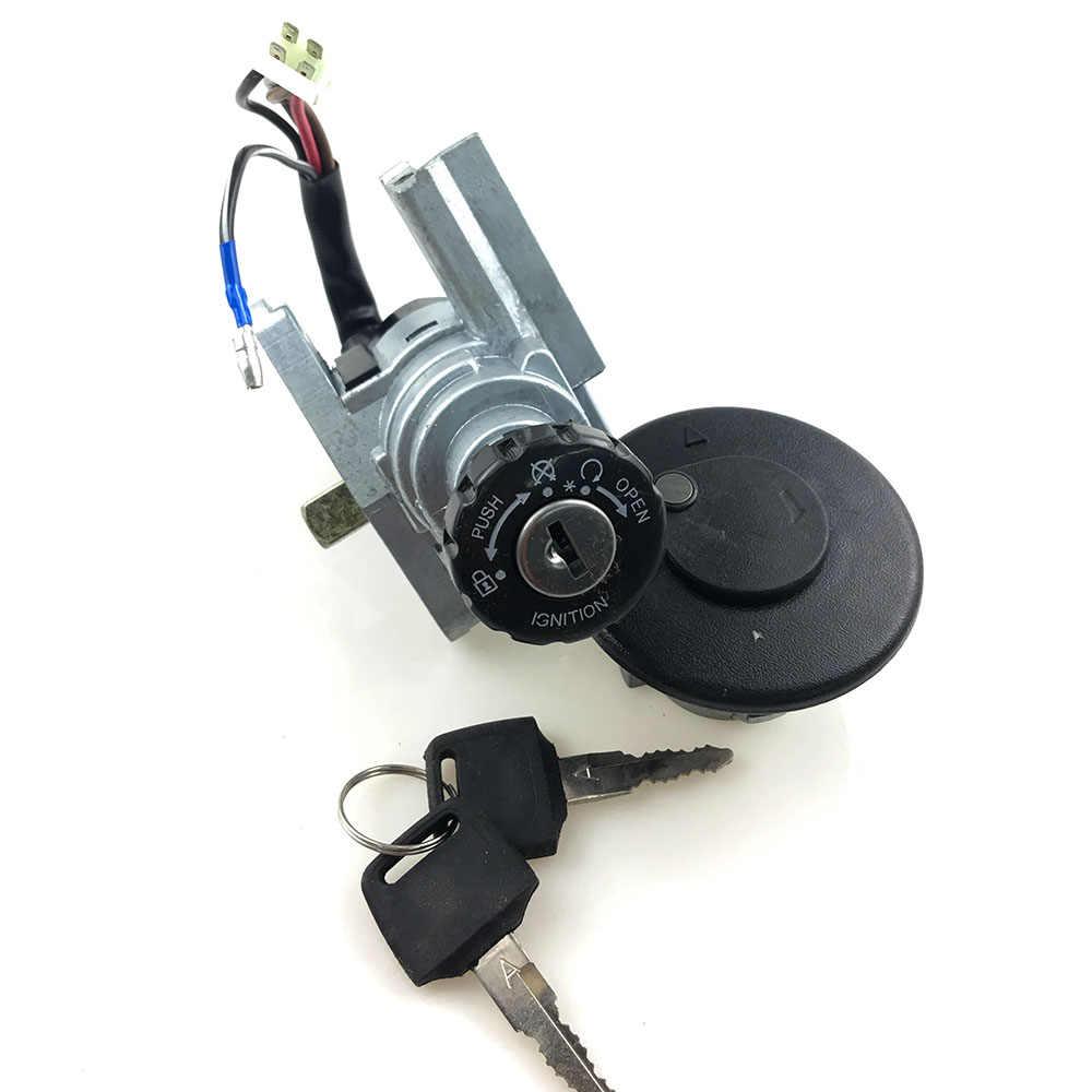 Partes Accesorios de la motocicleta Interruptor de encendido Juego de llaves de bloqueo del asiento del tap/ón de gasolina for Yamaha MT03 06-12 YZF R1 1998-05 R6 1999-05