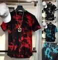 new summer hip hop t-shirt tyga t shirt men plain t-shirt hiphop tyga Terry arc bottom solid tshirt Hip Hop T Shirt