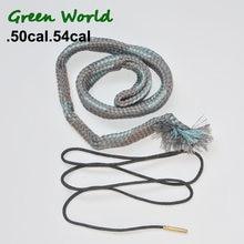 Zielony świat 1 sztuk/partia. 50cal,. 54cal Boresnake lina do czyszczenia pędzel, pistolet czysty pędzel do karabinu