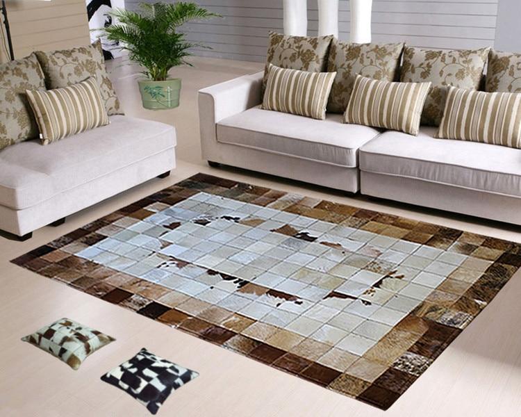 Fashionable art carpet 100% natural genuine cowhide leather carpet edge protectorFashionable art carpet 100% natural genuine cowhide leather carpet edge protector