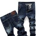 De Los nuevos Hombres Jeans De Moda Los Pantalones Apretados Pies Elasticidad Cómodo Masculinos Pantalones Vaqueros Delgados de la Marca Azul Tamaño 27-38