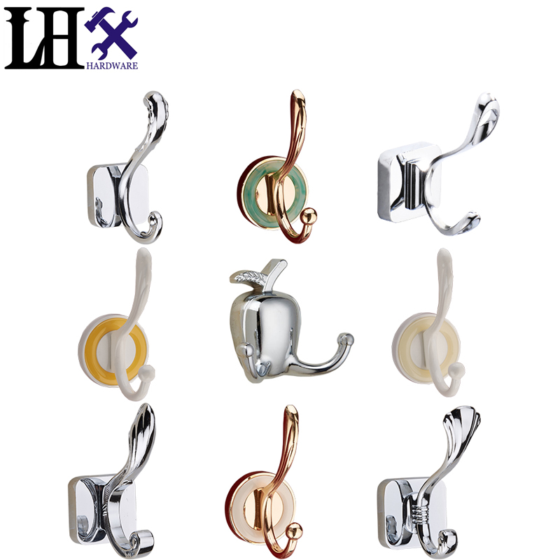 New Originality Family Wall Hooks For Clothes Hangers Hats Bag Metal Clothes Hook Kitchen Accessories With 11 Styles 10lb 500pcs picture frame wall hangers hooks brass plated wholesale