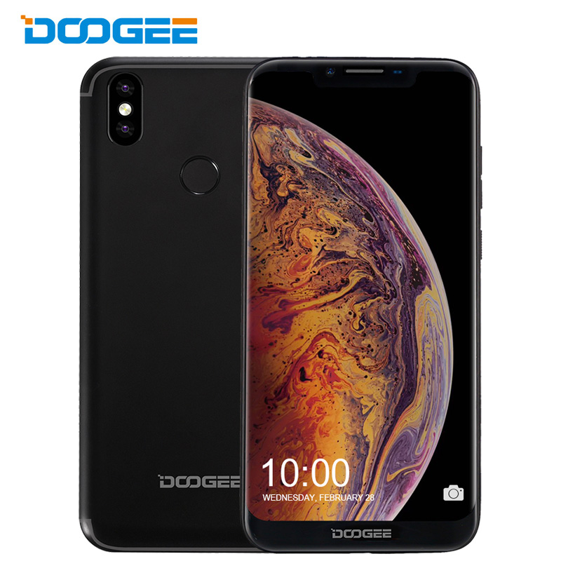 Original Doogee BL5500 Lite 6.19 Inch 19:9 Notch Screen 4G LTE Smartphone Quad Core 2G+16G Fingerprint Mobile Phone Android 8.1
