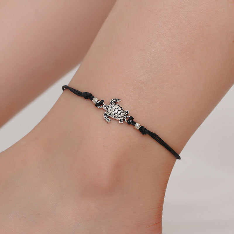 Bohemian Handmade Summer Style Beach Gold And Silver Color Triangle Geometry Anklet Foot Chain Anklet