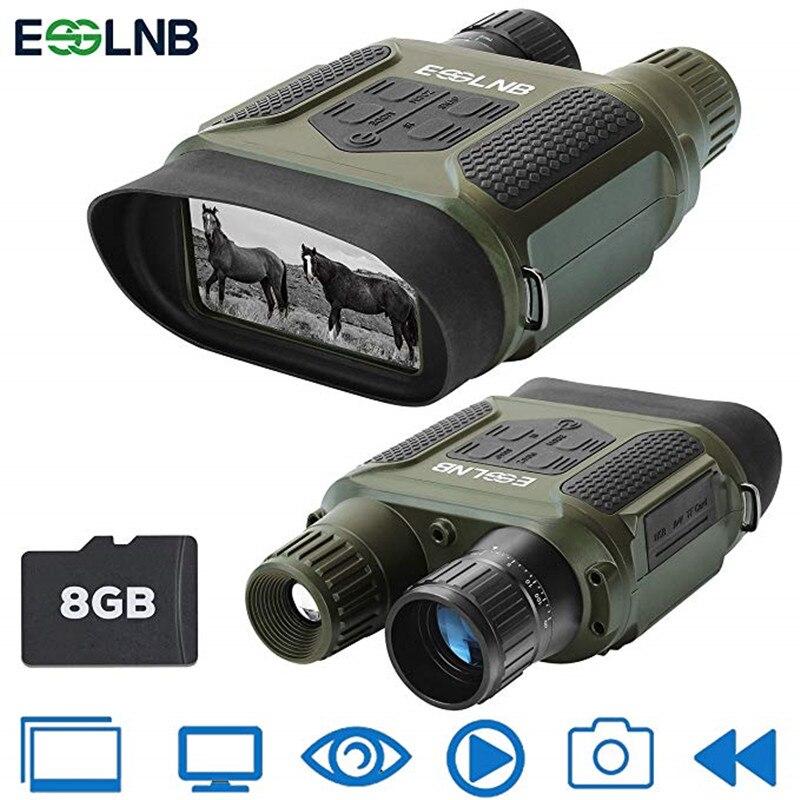 7x31 visión nocturna Binocular Digital infrarrojo visión nocturna alcance HD foto cámara grabadora de vídeo vista clara en el oscuro 400 m