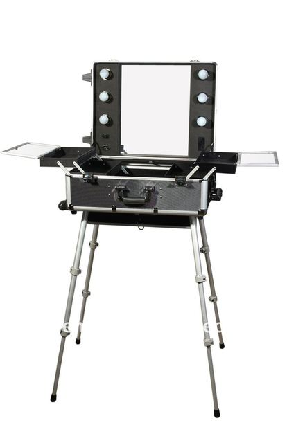 Merveilleux 100%Quality Guarantee, Portable Makeup Station,LED Lighted, Wholesale And  Retail,drop Ship, BB161