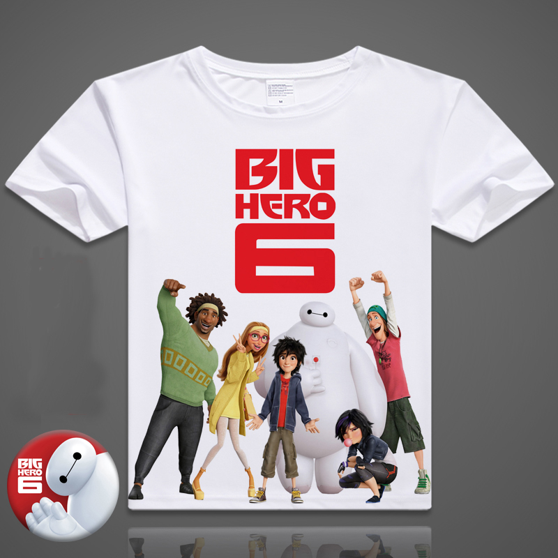 Casual T-shirt For Women Men Big Hero 6 Printing Summer Shirt Hiro Hamada White T Shirt Digital Printed T-shirt Cartoon Top