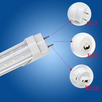 Toika 15 Uds 50W 60W 1500MM 5ft T8 v-en forma de tubos de luz LED G13 FA8 R17d de alta luminosidad funda transparente de AC85-265V 270 grados