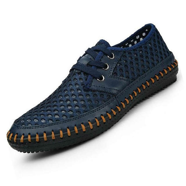 378d62061c4f Men sandals 2018 new arrive hand sewing mesh breathable men shoes soft and  comfortable lightweight summer shoes men
