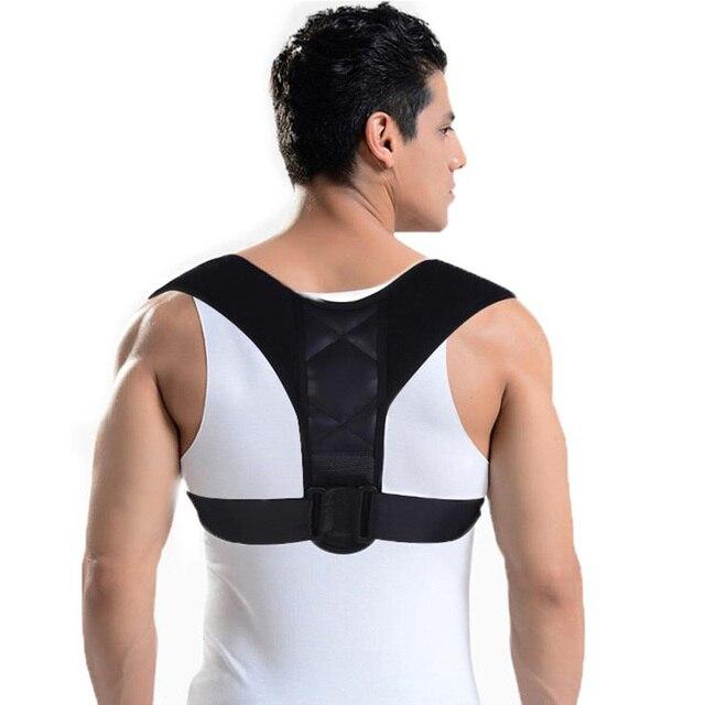 52283b89a Adjustable Upper Back Posture Corrector Clavicle Support Belt Spine Support  Shoulder Brace Posture Correction Corset Men Women