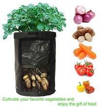 1PCS 10 Gallon Plant Grow Bag Vegetable Potato Planter PE Nursery w/ Handle Seedling Pots for Home Garden