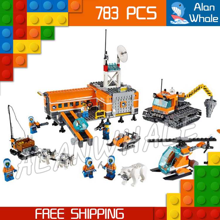 783pcs City Arctic Base Camp New 10442 DIY Sets Model Building Blocks Figures Bricks Children Gifts Toys Compatible with Lego kazi 608pcs pirates armada flagship building blocks brinquedos caribbean warship sets the black pearl compatible with bricks
