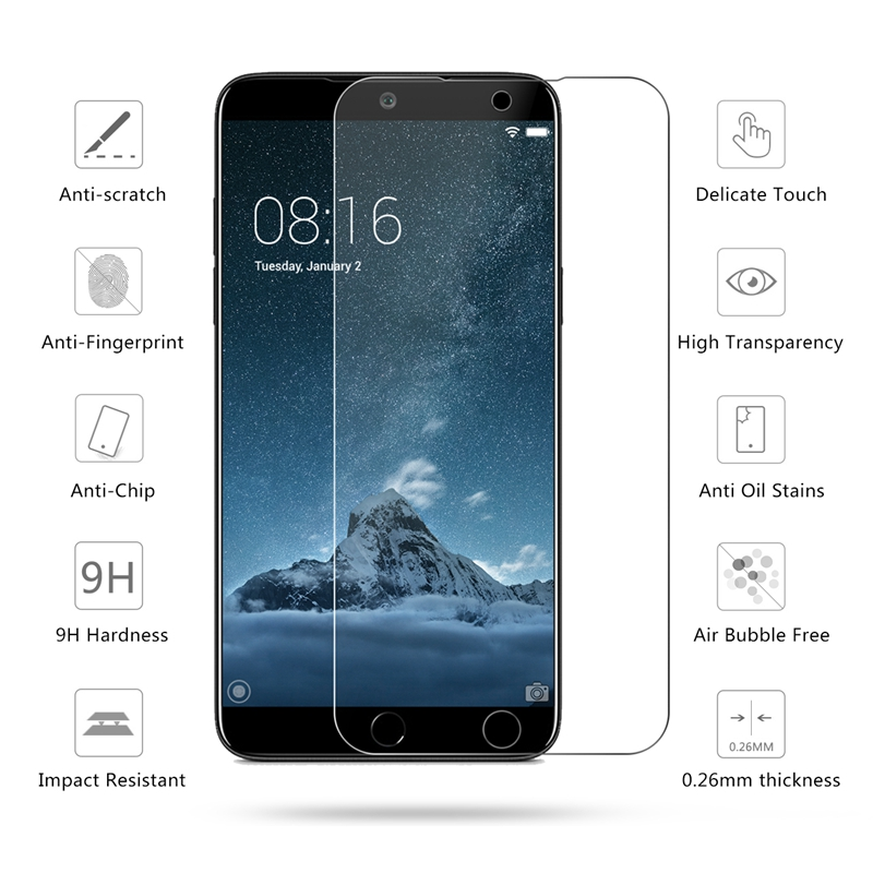 2.5D 0.26Mm 9H Premium Tempered Glass For Meizu 15 Display Protector Toughened Protecting Movie For Meizu 15 5.46""