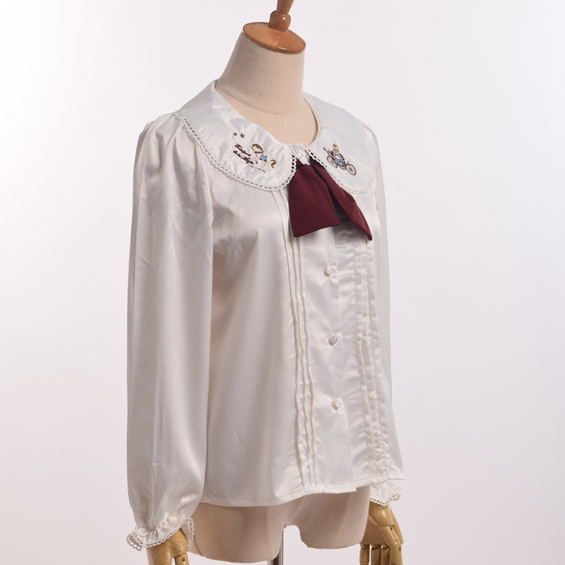 BLESSUME Blouse claudine broderie