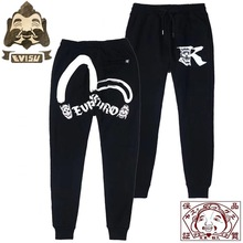 Evisu Top Quality Mens Trousers Dragon Embroidery Casual Pants Cotton Warm Breathable Sweatpants F084
