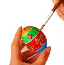 1Pcs DIY Wooden Eggs Painted Graffiti Wood Chicken Egg Hen Easter Egg Decoration Simulation Children gift  AU221