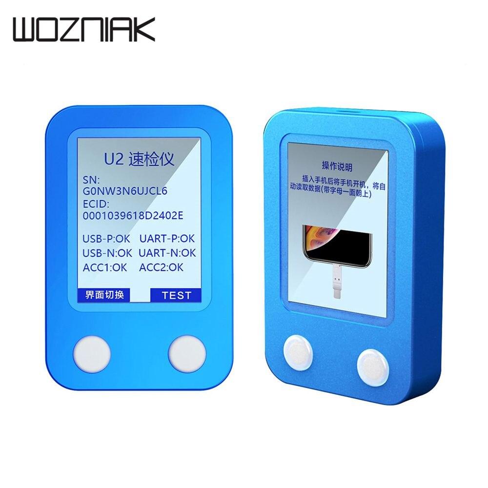 JC U2 Chip Tristar Tester Para O Iphone Xs Max/Xs/XR/8 Plus/8/7 plus/6 SPlus/6 S/6 Plus/6/5S Leia Código SN Reparo Do Telefone Móvel ferramenta