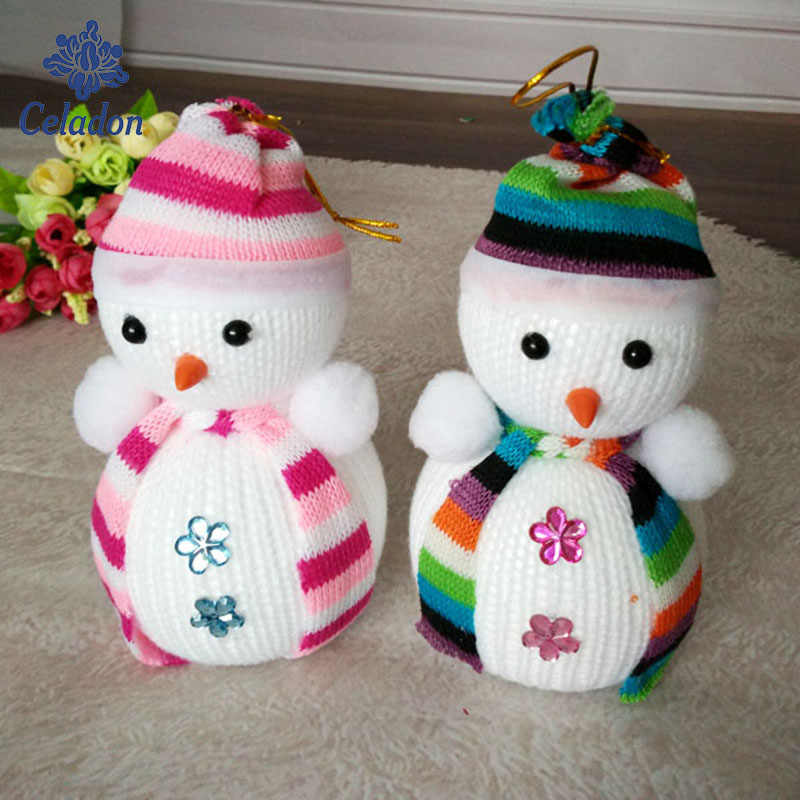 12x7cm Christmas Doll Christmas Decorations Hanging Christmas Snowman Christmas Tree Dress Pendant