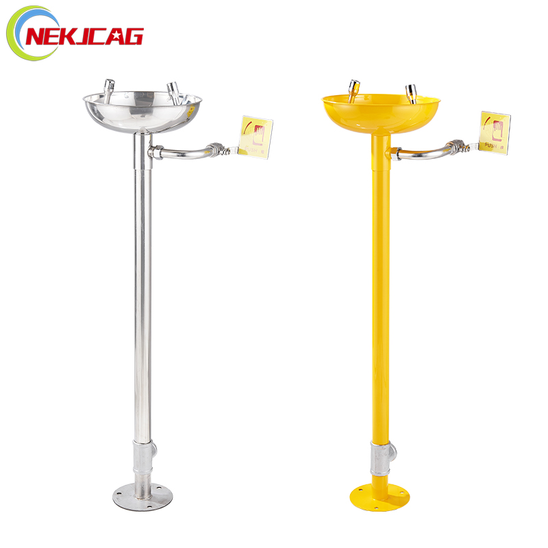 304 Stainless Steel Wall Mounted Emergency Eyewash Bathroom Sink Faucet Sink Mount Eye Flush Shower