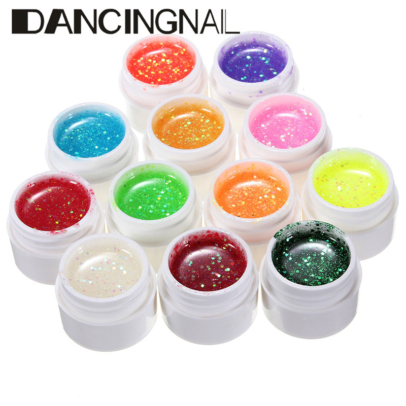 12 Color 3d Nail Art Painting Drawing Acrylic Mix Uv Gel Polish Kit