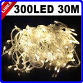 30M 300 LED 9 Colors Wedding Garden New Year Xmas Navidad Decoration Outdoor String Garland LED Christmas Fairy Light CN C-33